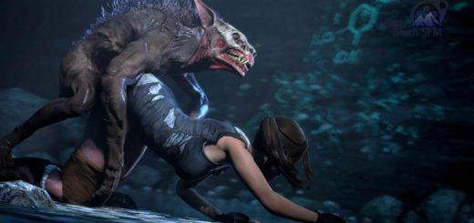 Lara croft monster sex