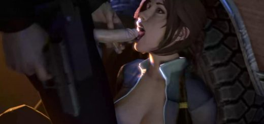 Lara croft blow job