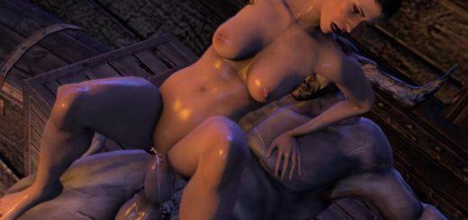 Huge boobs take a shower