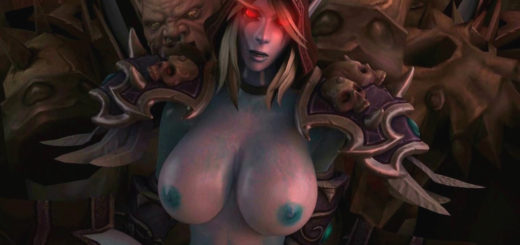 Warcraft sylvanas gets gangbanged and creampied by the horde