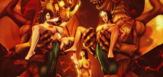 3d animated monster gangbang double feature - 2 part 6
